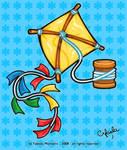 yellow kite by cifaela
