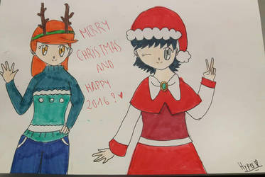 Merry Christmas and Happy 2016 by hypermanga