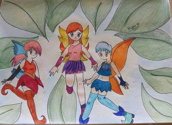 Fairies in the forest by hypermanga