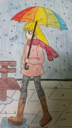 For sad days, coloured umbrellas by hypermanga