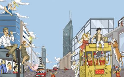 Book Cover - Hong Kong Mythology by Llewxam888