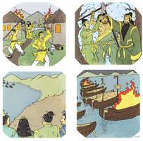 Romance of the Three Kingdoms - Spot Illustrations by Llewxam888