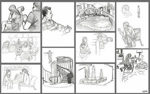 Singapore Sketches by Llewxam888