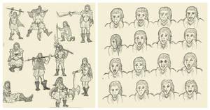 Huntswoman designs by Llewxam888