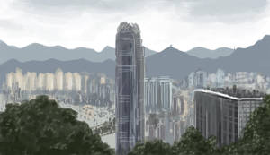 Hong Kong Skyline speed paint by Llewxam888