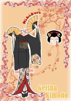 Kimono Paper doll Clothes 6 by j-nury