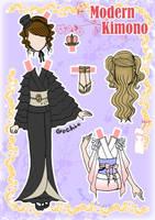 Kimono Paper doll Clothes 4 by j-nury