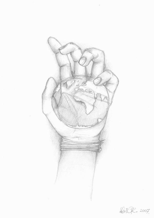world in hand by MJ-designer