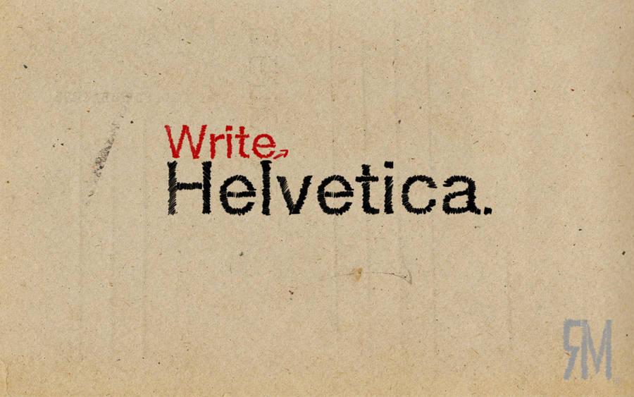 write helvetica by MJ-designer