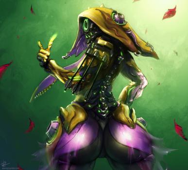 Frog butt by amrrr