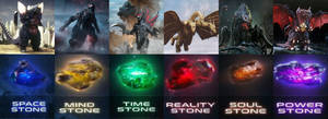 Evil Monsters Infinity Stones by MnstrFrc