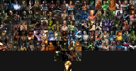 Mortal Kombat vs DC Universe Complete Characters by MnstrFrc