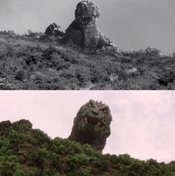 Godzilla Appeared In The Mountain by MnstrFrc