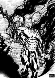Hal Jordan Black Lantern by garnabiuth