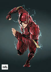Flash Ezra Miller by garnabiuth