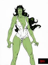 She-Hulk by garnabiuth
