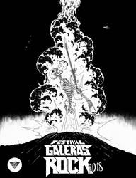 Festival Galeras Rock BnW by garnabiuth