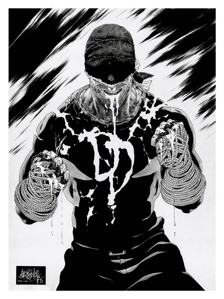 Daredevil Blood bnw by garnabiuth