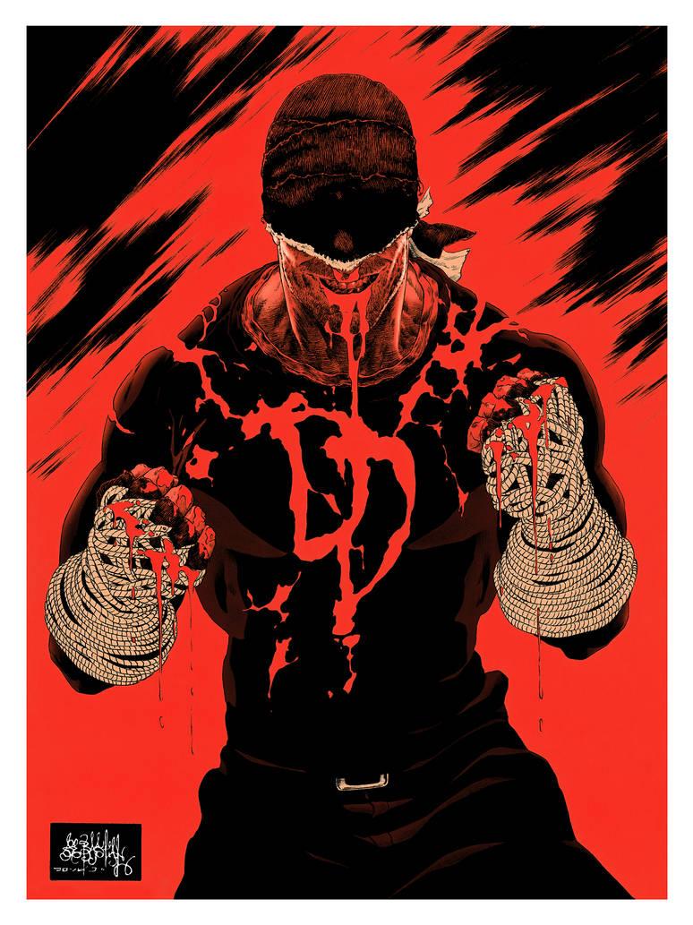 Daredevil Blood color by garnabiuth