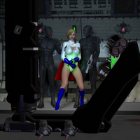 Power Girl Captured 4c: The Torture Chamber by DarkPoserGirl