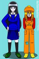 GitLoN: Gwen + Jenny by Kitschensyngk