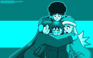 NCC: Winter Hug Wallpaper by Kitschensyngk