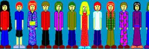 Pixel People by Kitschensyngk