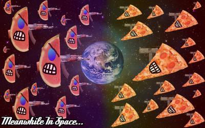 Pizza vs watermelon by rendition46