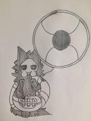 Puro playing the Sousaphone by puffedcheekedblower