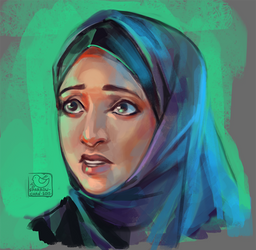 Face challenge#9 - arabian woman meet West culture by sparrow-chan