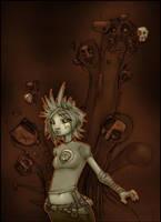 Cepha and Squid Spirits by Gambear1er
