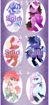 Pony Adopt Batch (OPEN) by Cabbage-Arts