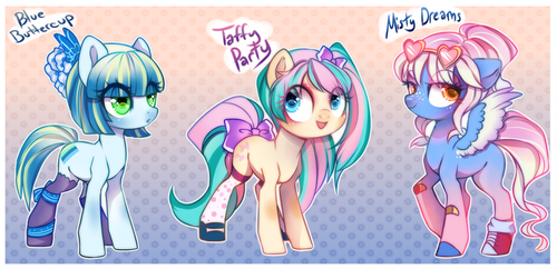 Pastel Cuties (PONY ADOPTS) (OPEN) by Cabbage-Arts