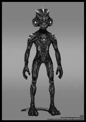 Alien Head 79 Full Body by OthmanIzagaren
