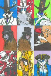 Countbleckfan Sketchcard Set by MaximumNiGHTS