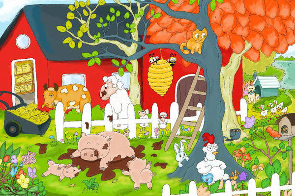 Farm animals by thintoons