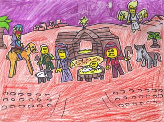LEGO Nativity by SonicClone