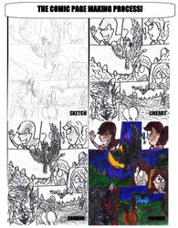 Centaurgirl 3: Process of Page Making by SonicClone
