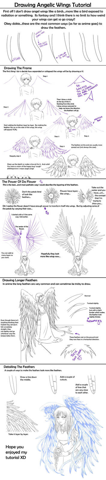 Drawing Angelic Wings Tutorial by Crysa