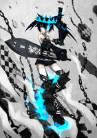 Black Rock Shooter Beast by qrullgx13