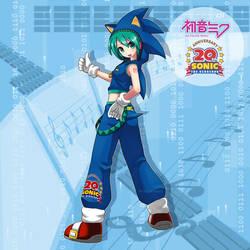 Sonic Miku by qrullgx13