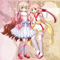 Izumi and Maemi by qrullgx13
