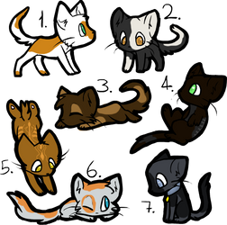 Free Cat Designs 2 (closed) by Snowfall99