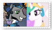 Good King SombraXPrincess Celestia Stamp by KittyJewelpet78
