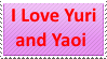 Love Yuri and Yaoi Stamp by KittyJewelpet78