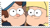 (Request) Dipper X Pacifica Stamp by KittyJewelpet78