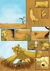 The Lion and the Antelope - page 1 by Fencill