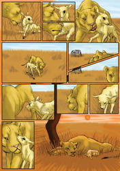 The Lion and the Antelope - page 2 by Fencill