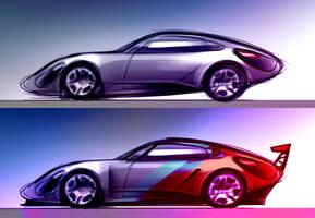 Porsche Side by Vincent-Montreuil