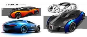 Bugatti Sketch 04 by Vincent-Montreuil